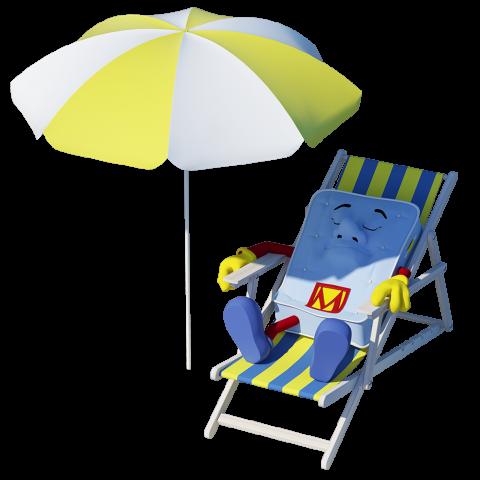 mattressman sun bathing